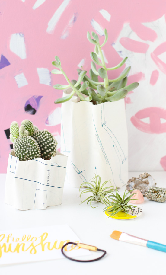 DIY // How to Make Sculptural Paper Ripple Planters