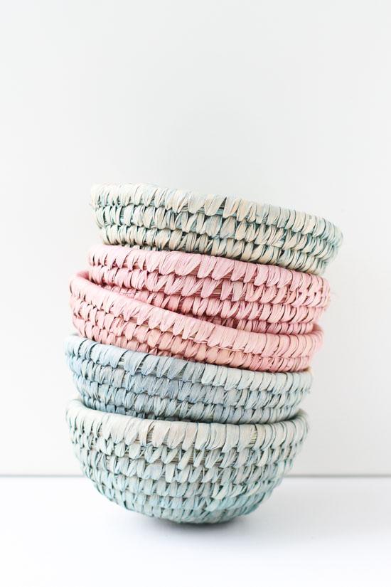 DIY // Dip Dyed Woven Baskets