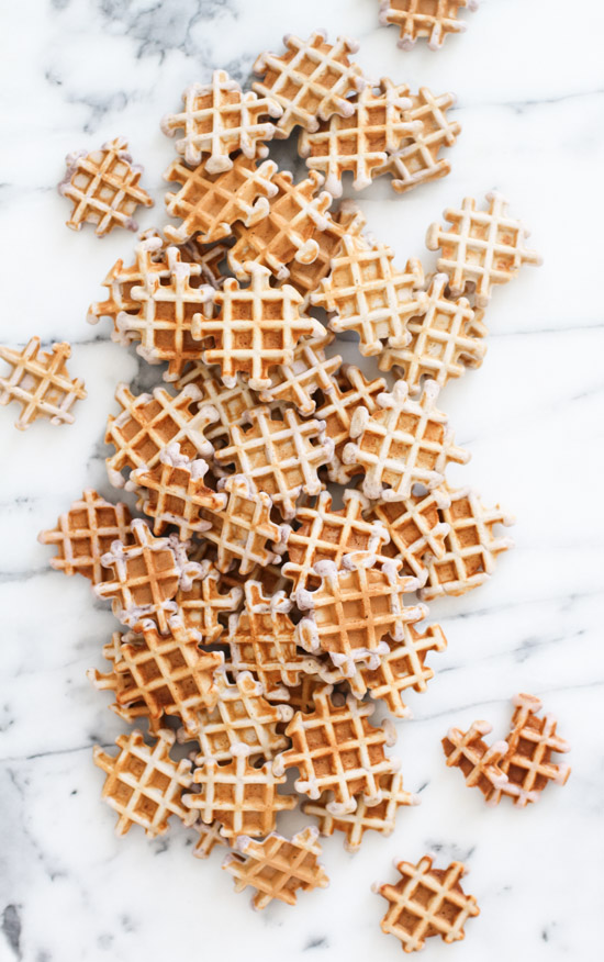 Make these homemade waffles from scratch (click through for recipe) with a unique recipe that peanut butter and jelly lovers will especially appreciate.