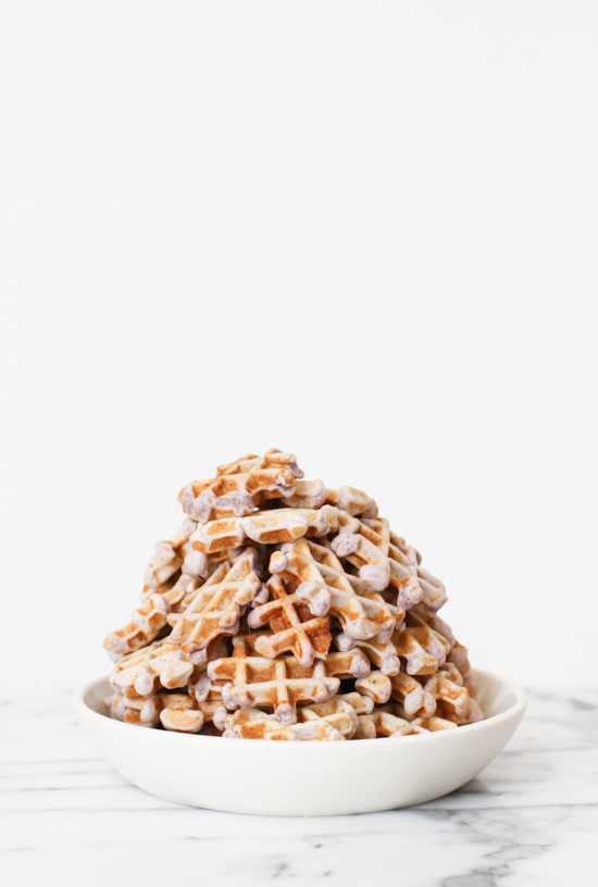 Mini Peanut Butter and Jelly Waffles Recipe for National PB & J Day