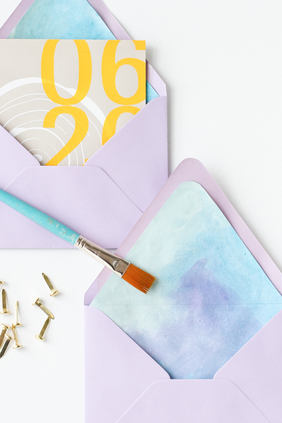 Diy Watercolor Envelope Liners For MotherS Day And Beyond  Paper