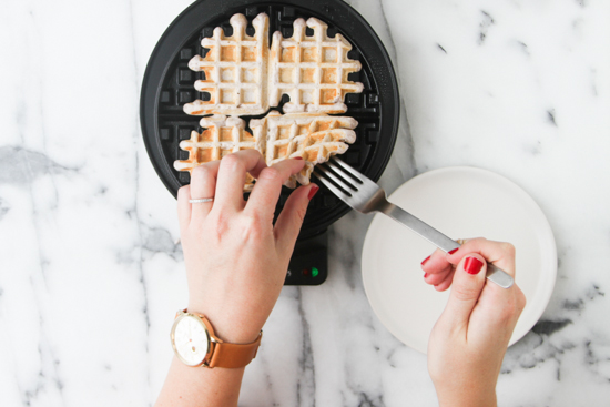 Recipe // Grape Waffles with a Peanut Butter Glaze Syrup - Just like a PB & J Sandwich. Only Better.