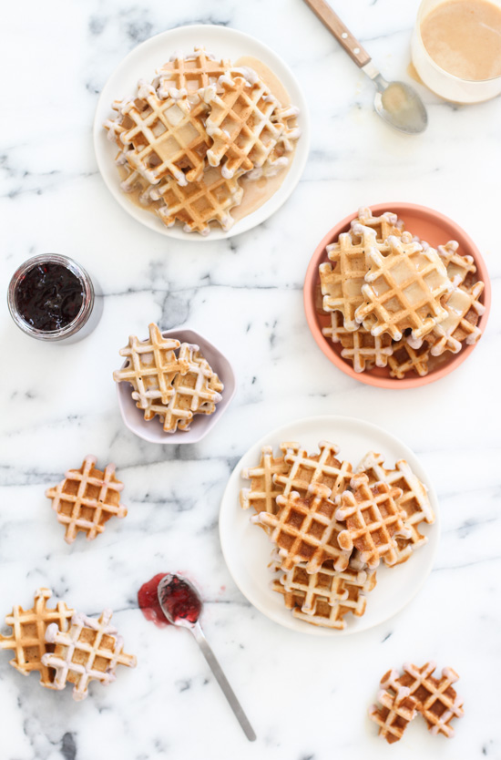 Recipe // Grape Waffles with a Peanut Butter Glaze Syrup - Just like a PB & J Sandwich. Only Better.
