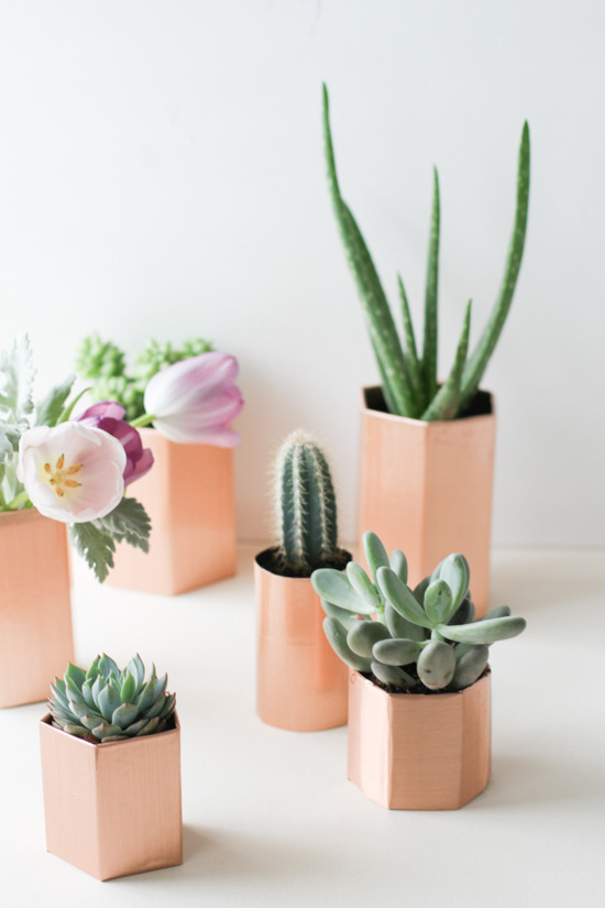 21 Budget-Friendly Mother's Day DIYs to Try Before Sunday // Idea No 8: Faux Copper Planters