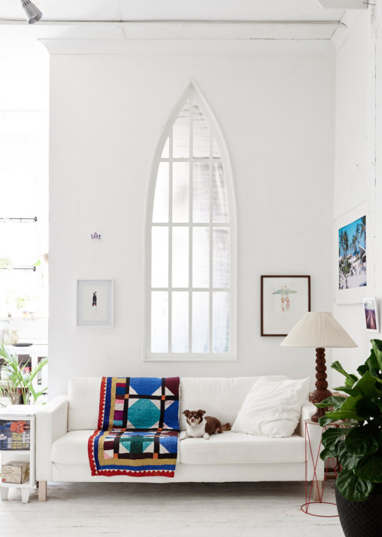 High ceilings and architectural windows