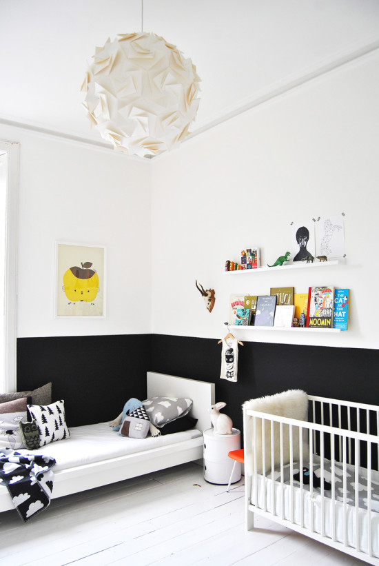 High Contrast Half Painted Wall