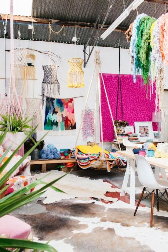 Natalie Miller's colorful studio