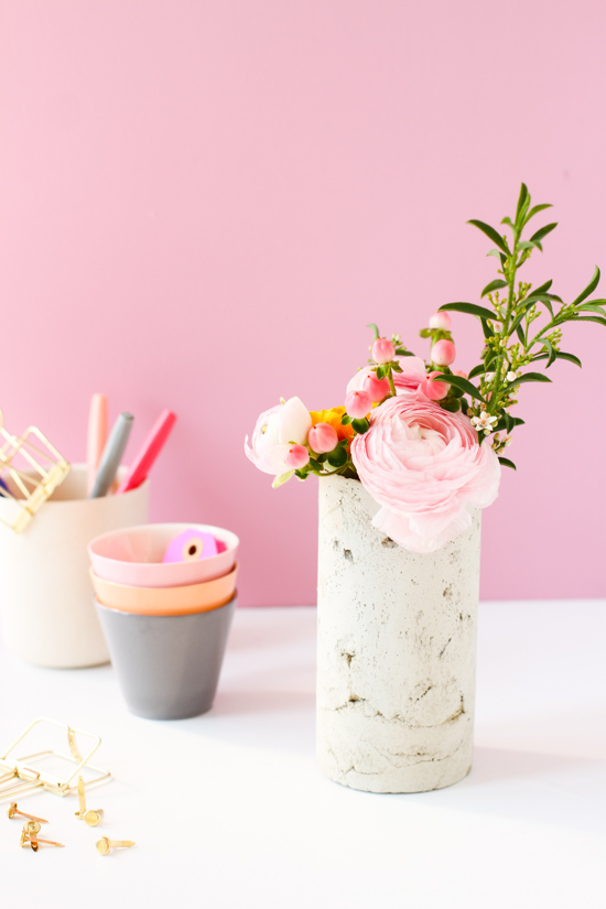 21 Budget-Friendly Mother's Day DIYs to Try Before Sunday // Idea No 5: Concrete Vase