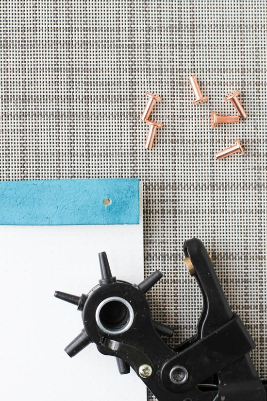 How To Make DIY Leather Bound Notepads in Ten Minutes