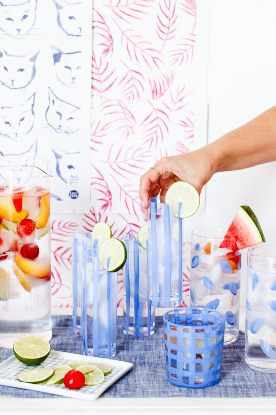 DIY // Painted 10 Minute Glassware and The Easiest Cocktail Hack for Parties