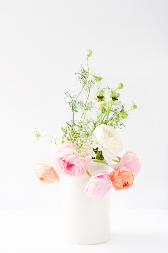 Ranunculus, Nigella, and Queen Anne's Lace
