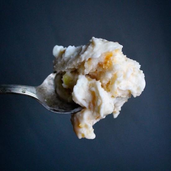 Sweet Corn Peach Ice Cream