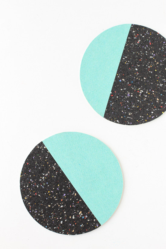 DIY Moon Phases Color Blocked Trivets