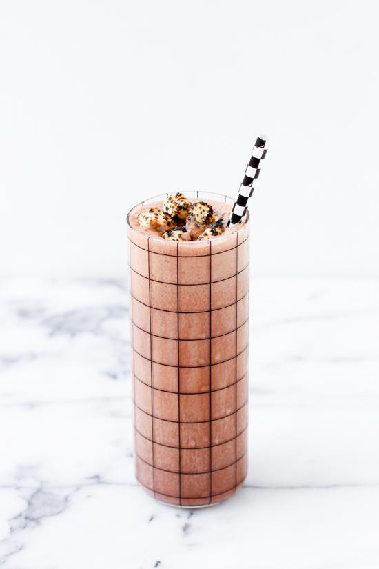 Rocky Road Milkshake with Toasted Marshmallow Sprinkles