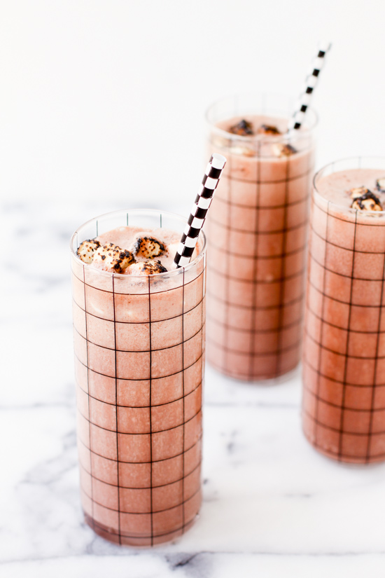 Rocky Road Milkshake with Toasted Marshmallow Sprinkles