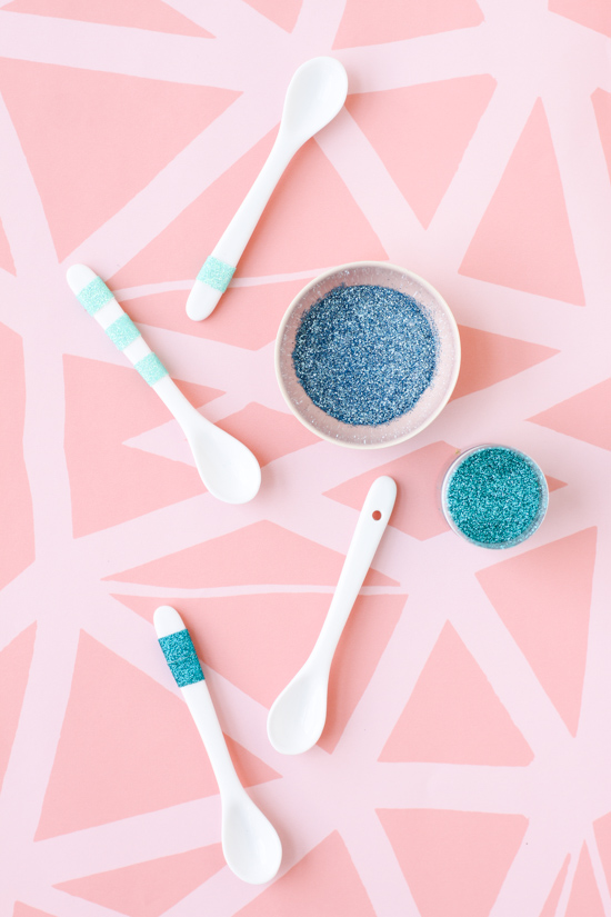 DIY Glitter Spoons in Under 5 Minutes