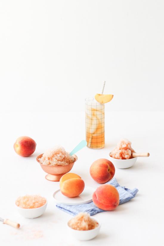 Recipe // Peach Sweet Tea Granita for Summer