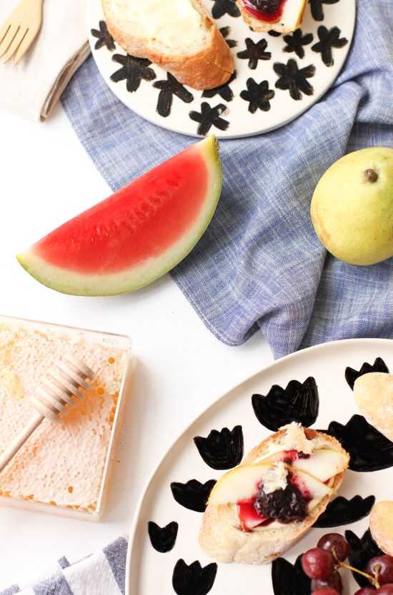 DIY // Food Safe Painted Pattern Plates