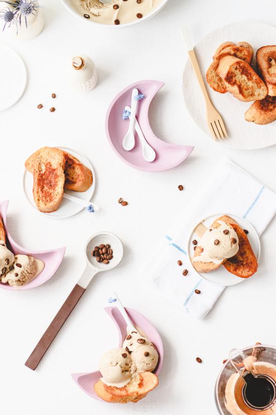 Recipe // Vanilla French Toast and Coffee Ice Cream