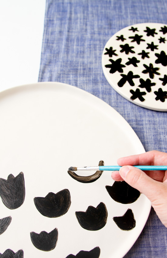 DIY Food Safe Painted Pattern Plates