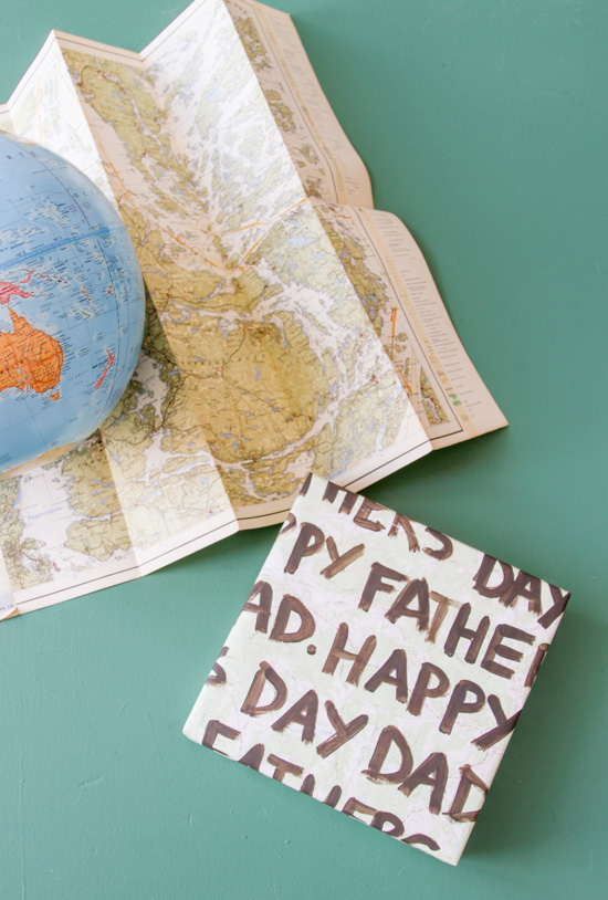 http://www.papernstitchblog.com/wp-content/uploads/2015/06/painting-fathers-day-message-onto-map-8.jpg
