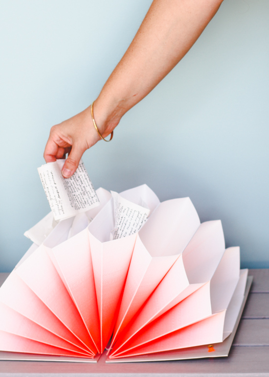 Ombre Accordion Folder for Keeping Receipts Organized