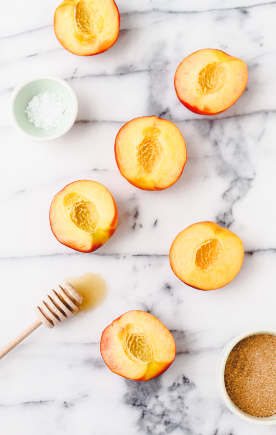 Recipe // Grilled Peaches and Ice Cream for National Peaches and Cream Day