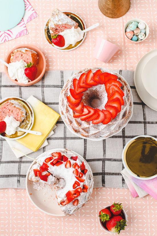 Semi-Homemade Strawberries and Cream Cake Recipe
