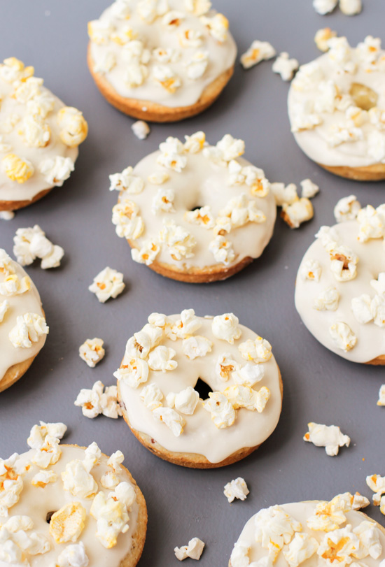 Popcorn Covered Donuts