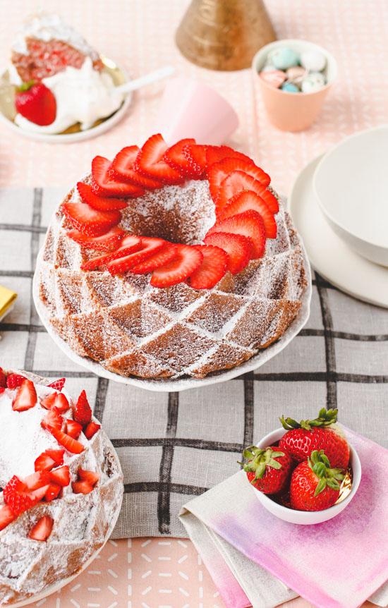 Recipe // Semi-Homemade Strawberries and Cream Cake