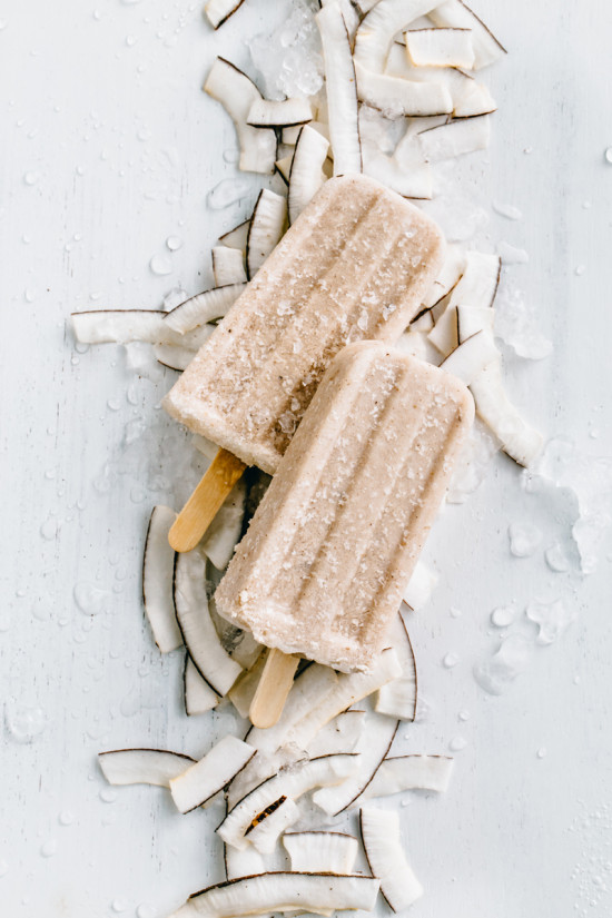 Coconut Amaretto Popsicles