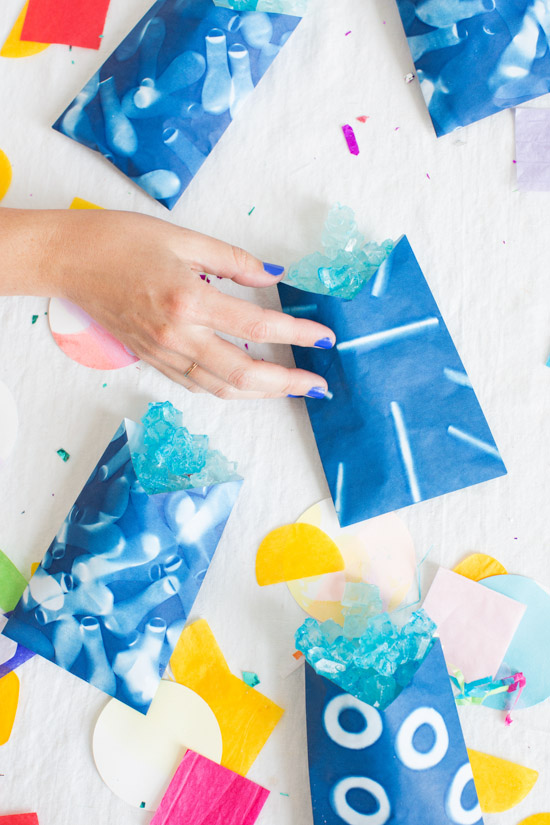 DIY Sunprint Party Favor Bags