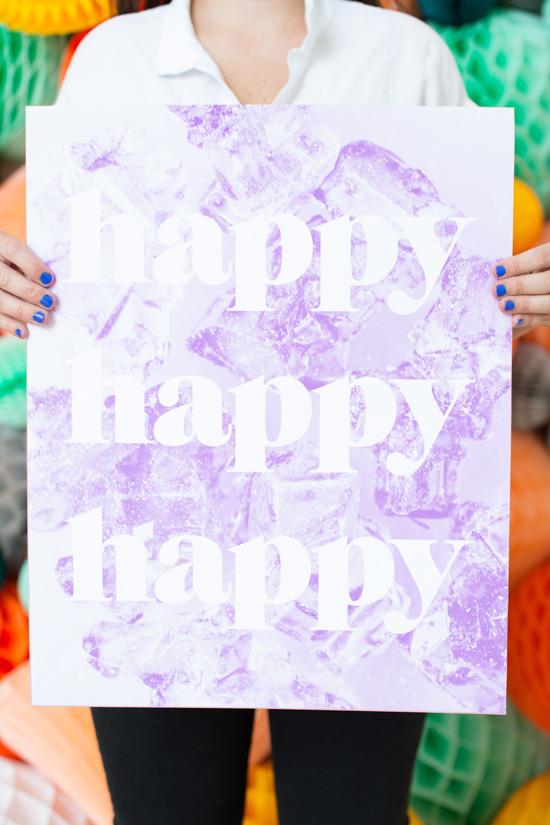 'Happy' DIY Printable. Click through to download.