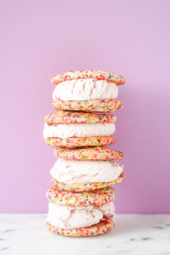 Sugar Cookie Ice Cream Sandwiches Recipe — Dishmaps
