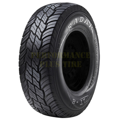 Radar Tires RLT 8 Light Truck/SUV All Terrain/Mud Terrain Hybrid Tire - LT265/70R17 121/118R 10 Ply