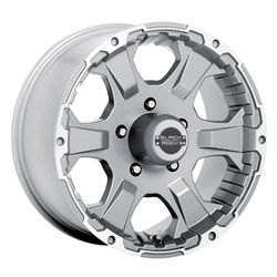 Black Rock Wheels 910S Intruder - Silver Rim
