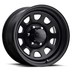 Black Rock Wheels 942 Type D Steel - Matte Black Rim - 16x10