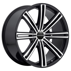 Cruiser Alloy Wheels 916MB - Machined Face w/Black Accents Rim