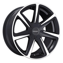Cruiser Alloy Wheels 922MB Kinetic - Black/Machined Lip Rim - 22x9.5