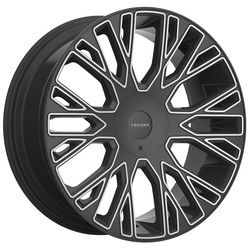 Cruiser Alloy Wheels 923MB Raucous - Gloss Black with Machined Face Rim - 24x9.5