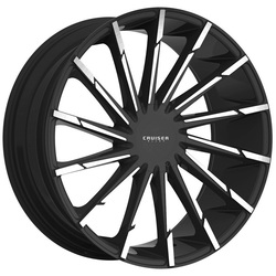 Cruiser Alloy Wheels 924MB Stiletto - Gloss Black with Machined Face Rim - 24x9.5