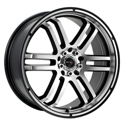 Drifz Wheels 207MB FX - Machined Face & Lip w/ Gloss Black Accents - 15x6.5