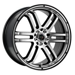 Drifz Wheels 207MB FX - Machined Face & Lip w/ Gloss Black Accents