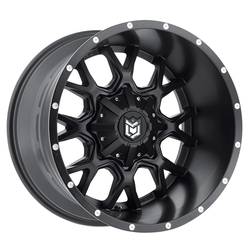 Dropstars Wheels 645B - Satin Blk w/CNC Milled Lip Accents Rim