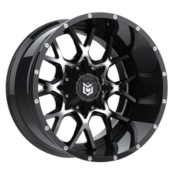 Dropstars Wheels 645MB - Gloss Blk w/Mirror Machined Face
