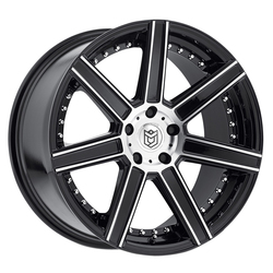 Dropstars Wheels 650MB - Mirror Machined Face w/ Gloss Black Accents