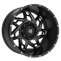 Dropstars Wheels 652BM - Satin Black w/ CNC Milled Accents - 22x14