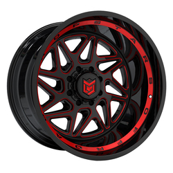 Dropstars Wheels 657BMR - Black with Red Accents Rim