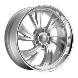 Dropstars Wheels 658BS - Silver with Brushed Face and Polished Lip Rim