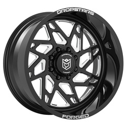 Dropstars Wheels F60 BM1 Forged - Gloss Black w/ CNC Milled Accents - 22x14